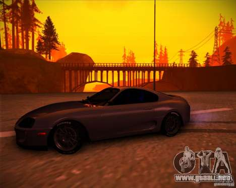 Toyota Supra SHE para GTA San Andreas left