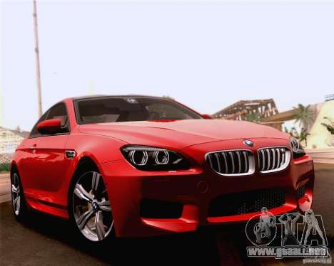 BMW M6 2013 para la vista superior GTA San Andreas