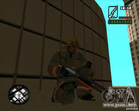 Chrome black red gun pack para GTA San Andreas tercera pantalla