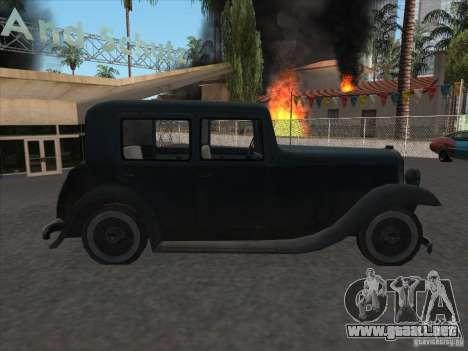 El vehículo de la segunda guerra mundial para la visión correcta GTA San Andreas
