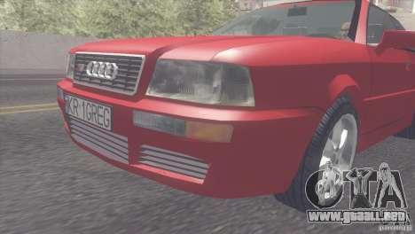 Audi S2 para GTA San Andreas vista posterior izquierda