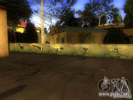 Armas en la calle Grove para GTA San Andreas