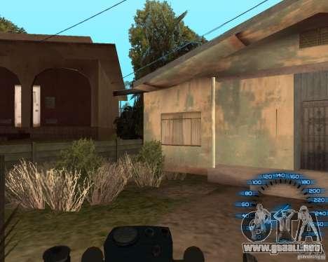 Detrás del volante para GTA San Andreas sucesivamente de pantalla