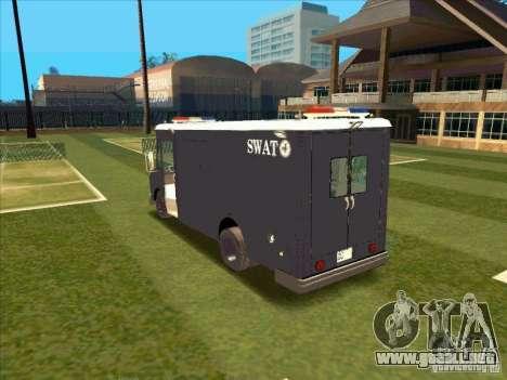 Swat Van from L.A. Police para la visión correcta GTA San Andreas