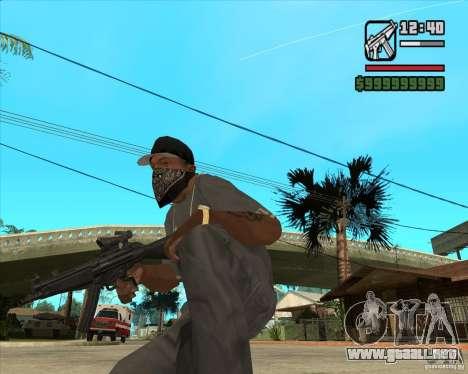 MP5 AGOG para GTA San Andreas segunda pantalla