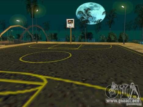 New basketball court para GTA San Andreas sucesivamente de pantalla