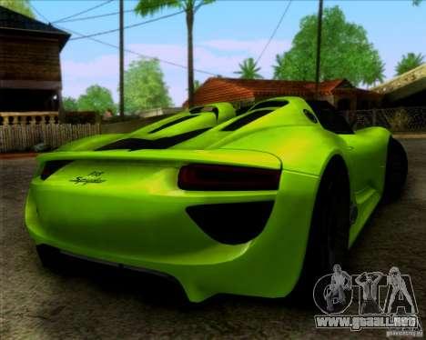 Porsche 918 Spyder Concept Study para GTA San Andreas left