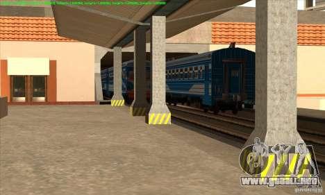 Aumento en el tráfico de trenes para GTA San Andreas tercera pantalla
