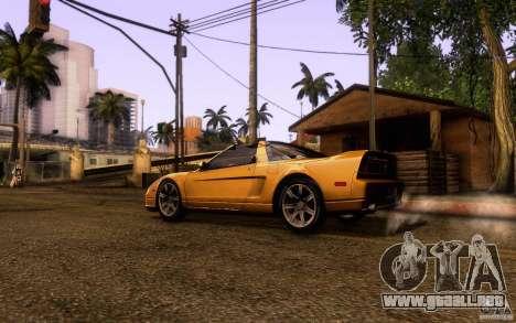 Acura NSX Targa para GTA San Andreas left