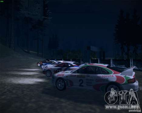 Toyota Celica ST-205 GT-Four Rally para vista lateral GTA San Andreas
