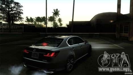 Lexus GS350F Sport 2013 para GTA San Andreas interior