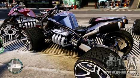 ATV Quad V8 para GTA 4 left