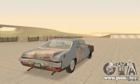 Pontiac LeMans 1970 Scrap Yard Edition para vista lateral GTA San Andreas