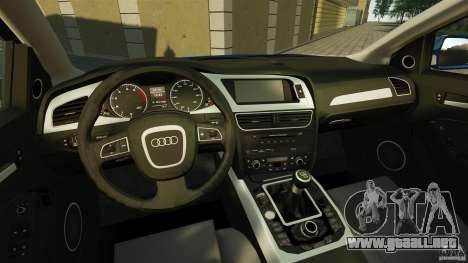 Audi A4 2010 para GTA 4 vista hacia atrás