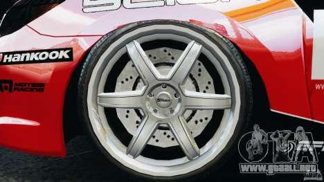 Scion TC Fredric Aasbo Team NFS para GTA 4 vista hacia atrás