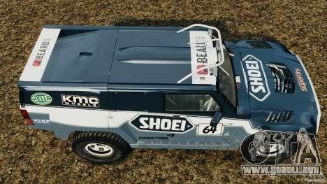 Hummer H3 raid t1 para GTA 4 visión correcta
