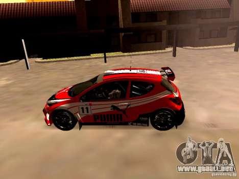 Peugeot 207 S2000 Puma para GTA San Andreas left