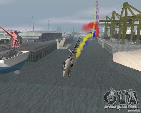 Multi color tiras para aeronaves para GTA San Andreas quinta pantalla