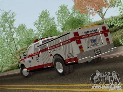 Ford F-350 AMR Supervisor para la vista superior GTA San Andreas