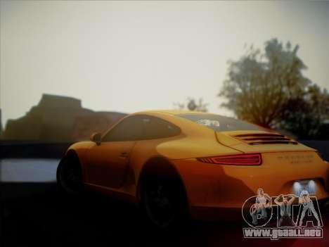 Porsche 911 (991) Carrera S para GTA San Andreas vista hacia atrás