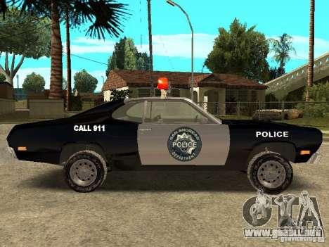 Plymout Duster 340 POLICE v2 para GTA San Andreas left