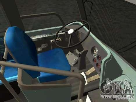 GMC RTS MTA New York City Bus para GTA San Andreas vista hacia atrás