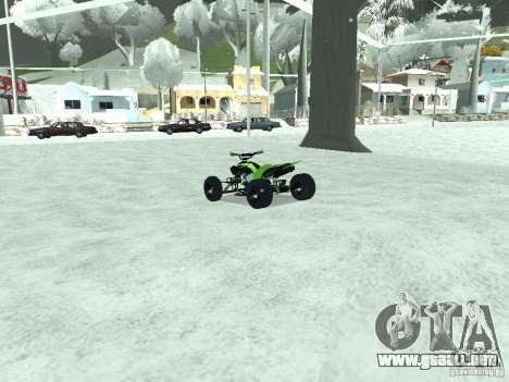 Kawasaki Monster Energy Quad para GTA San Andreas vista posterior izquierda