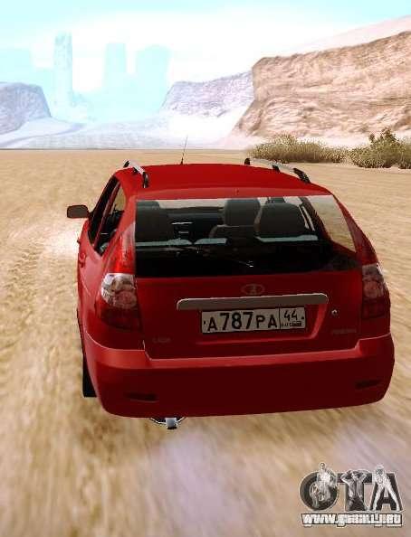 VAZ Lada Priora 2171 para GTA San Andreas vista posterior izquierda