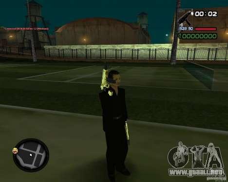 Tec 9 GOLD para GTA San Andreas tercera pantalla