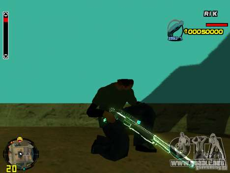 Blue weapons pack para GTA San Andreas sexta pantalla