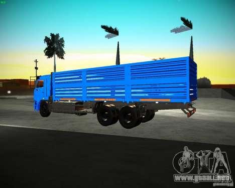 KAMAZ 65117 grano para GTA San Andreas left