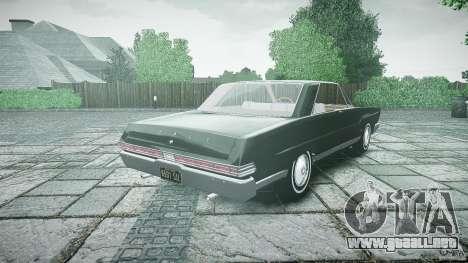 Ford Mercury Comet Caliente Sedan 1965 para GTA 4 Vista posterior izquierda