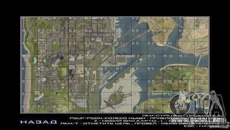 Map Mod v1.2 para GTA San Andreas segunda pantalla