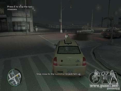 La misión de taxista para GTA 4 para GTA 4 tercera pantalla