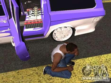 Lowrider GAZ 24-12 para GTA San Andreas vista hacia atrás