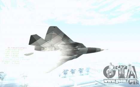 SU t-50 Pak FA para la visión correcta GTA San Andreas