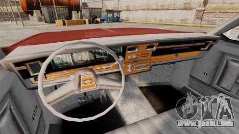 Chevrolet Caprice Classic 1979 para GTA 4 vista hacia atrás