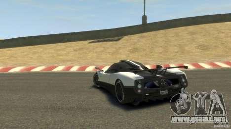 Pagani Zonda Cinque 2009 para GTA 4 Vista posterior izquierda