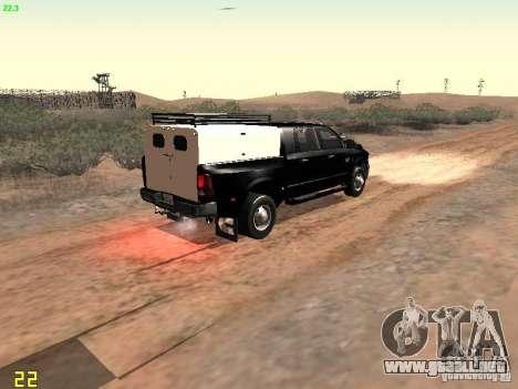 Dodge Ram 3500 Unmarked para GTA San Andreas vista hacia atrás