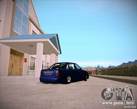 Lada Priora Chelsea para GTA San Andreas vista hacia atrás