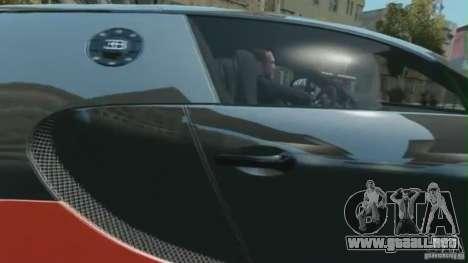 Bugatti Veyron 16.4 Super Sport para GTA 4 Vista posterior izquierda