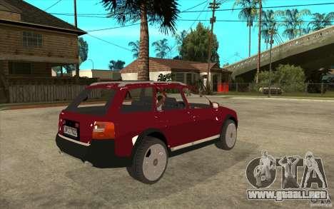 Audi Allroad Quattro v1.1 para la visión correcta GTA San Andreas