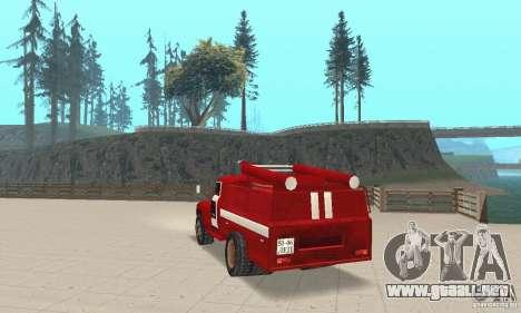 ZIL-130 incendios para GTA San Andreas vista posterior izquierda