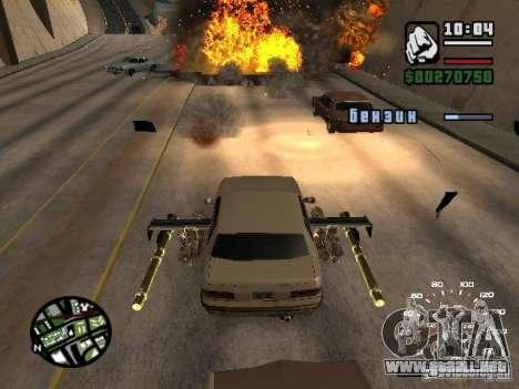 Poner armas en cualquier máquina para GTA San Andreas segunda pantalla