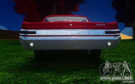 Pontiac GTO 1965 FINAL para GTA 4 visión correcta