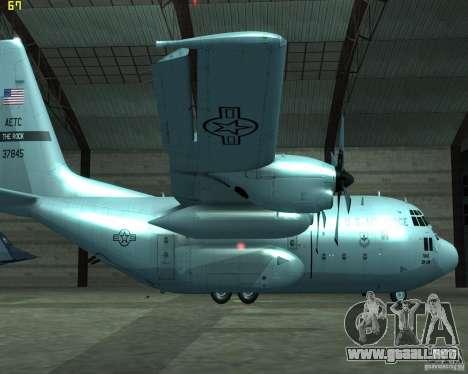 C-130 hercules para GTA San Andreas left