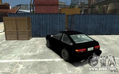 Toyota Sprinter Trueno AE86 para GTA 4 Vista posterior izquierda