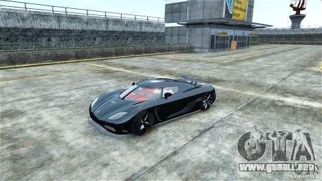 Koenigsegg Agera R para GTA 4 left