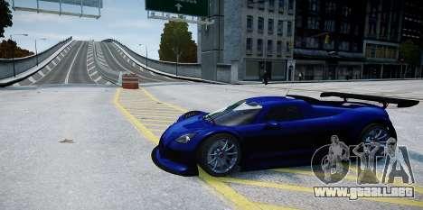 Gumpert Apollo Sport 2011 para GTA 4 vista hacia atrás