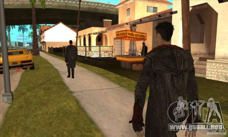 Dante de Devil May Cry para GTA San Andreas sucesivamente de pantalla